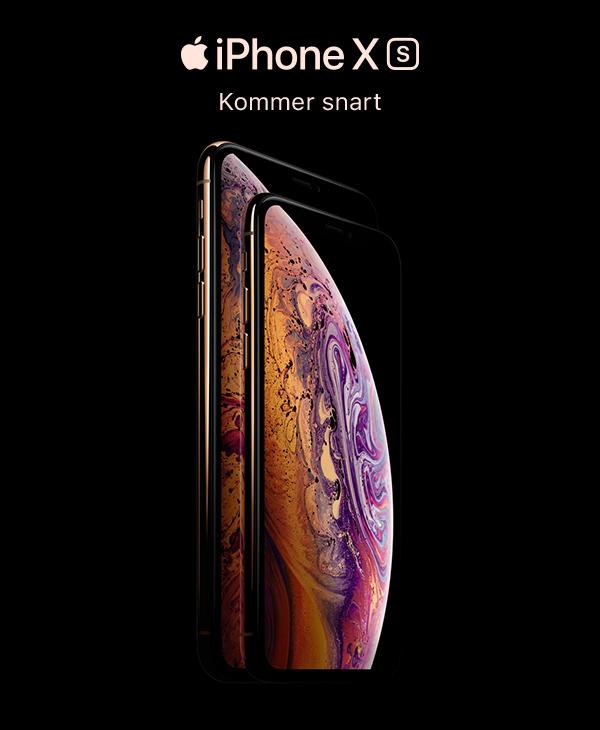 Nye iPhone Xs banner - forhåndsbestill