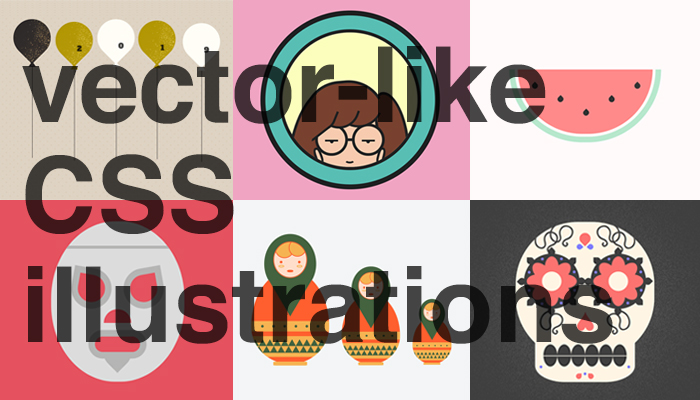 vector-like CSS illustrations samples