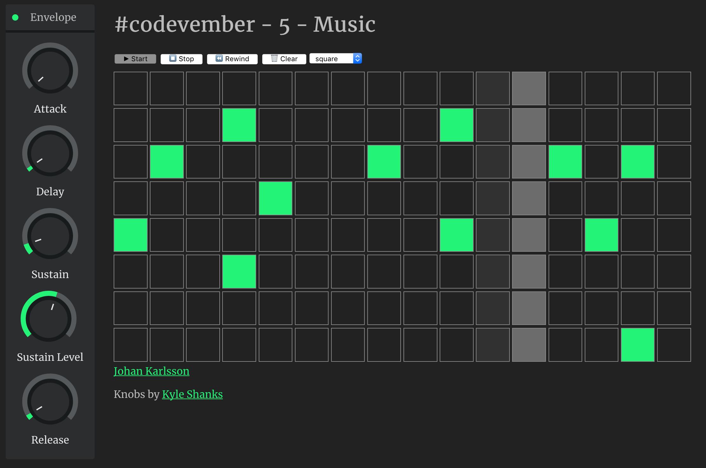 codevember - 5 - Music