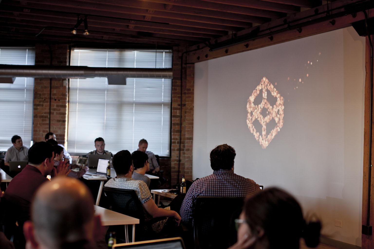 Caroline Artz presenting at CodePen Chicago
