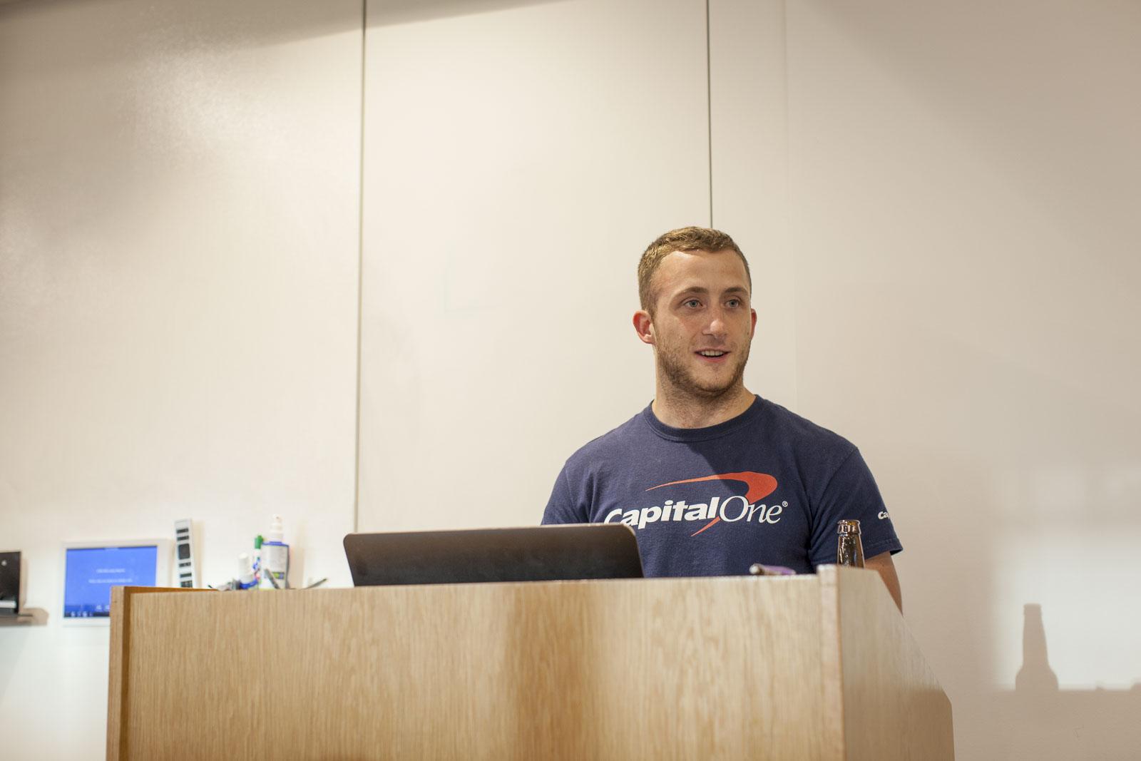 Programmer Matt presenting at CodePen Chicago