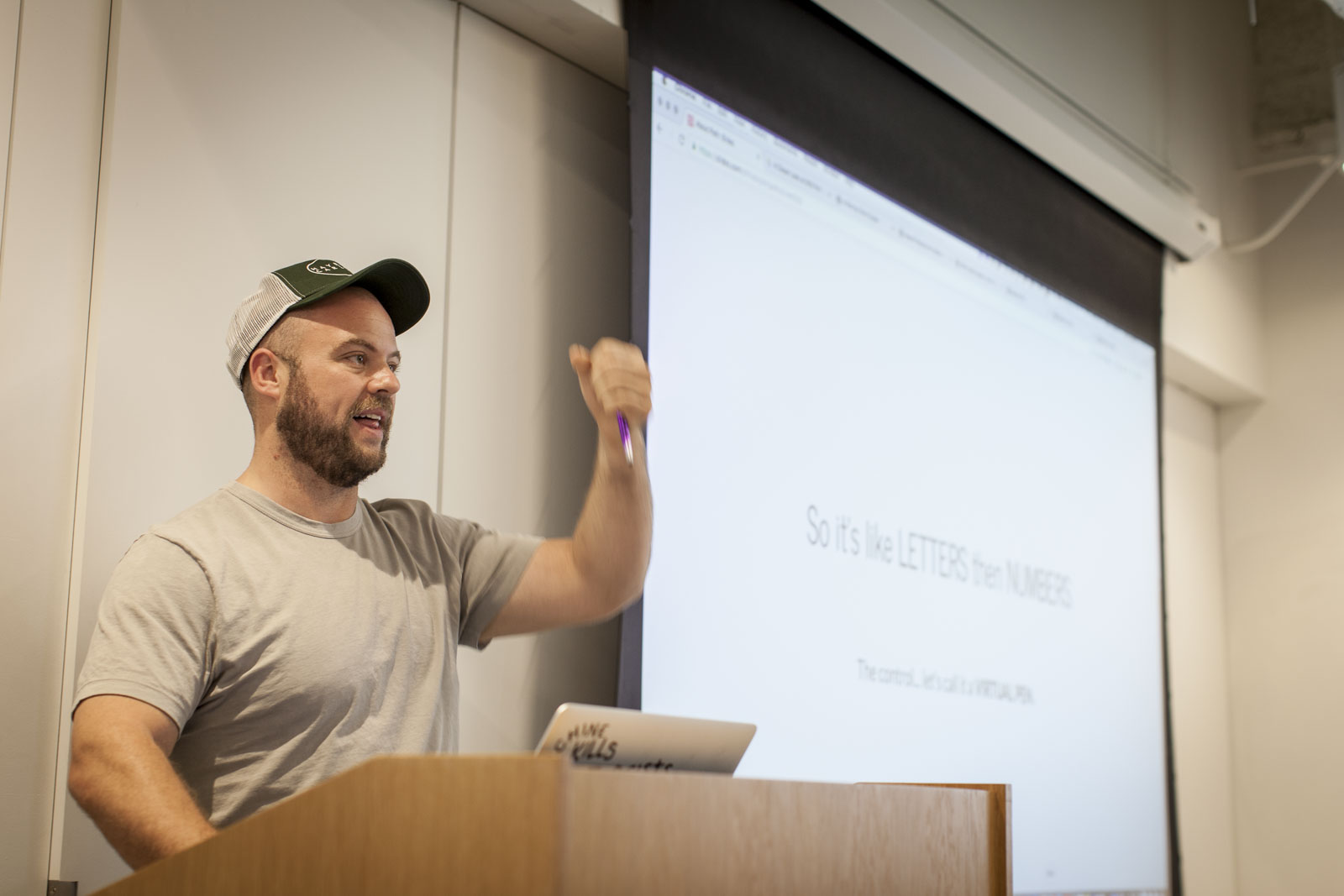 Chris Coyier presenting at CodePen Chicago
