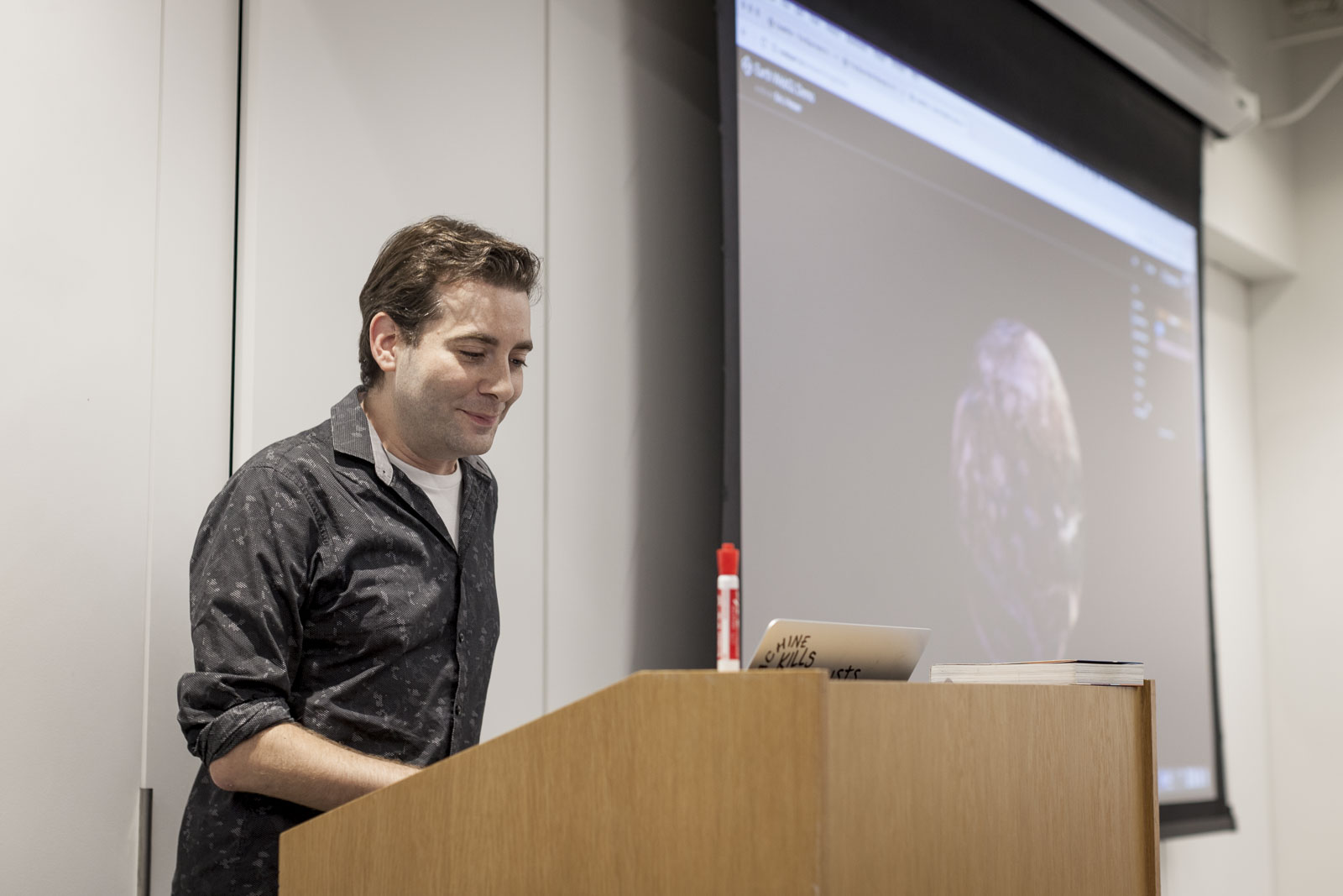 Eric Nesser presenting at CodePen Chicago