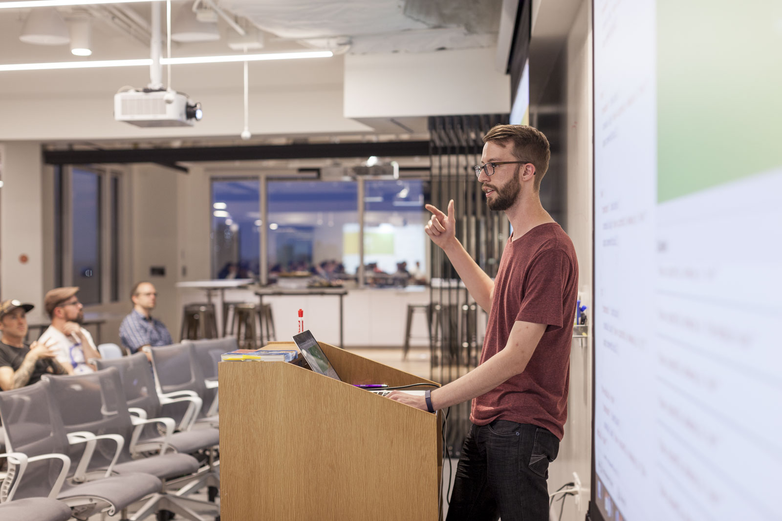 Colt Borg presenting at CodePen Chicago