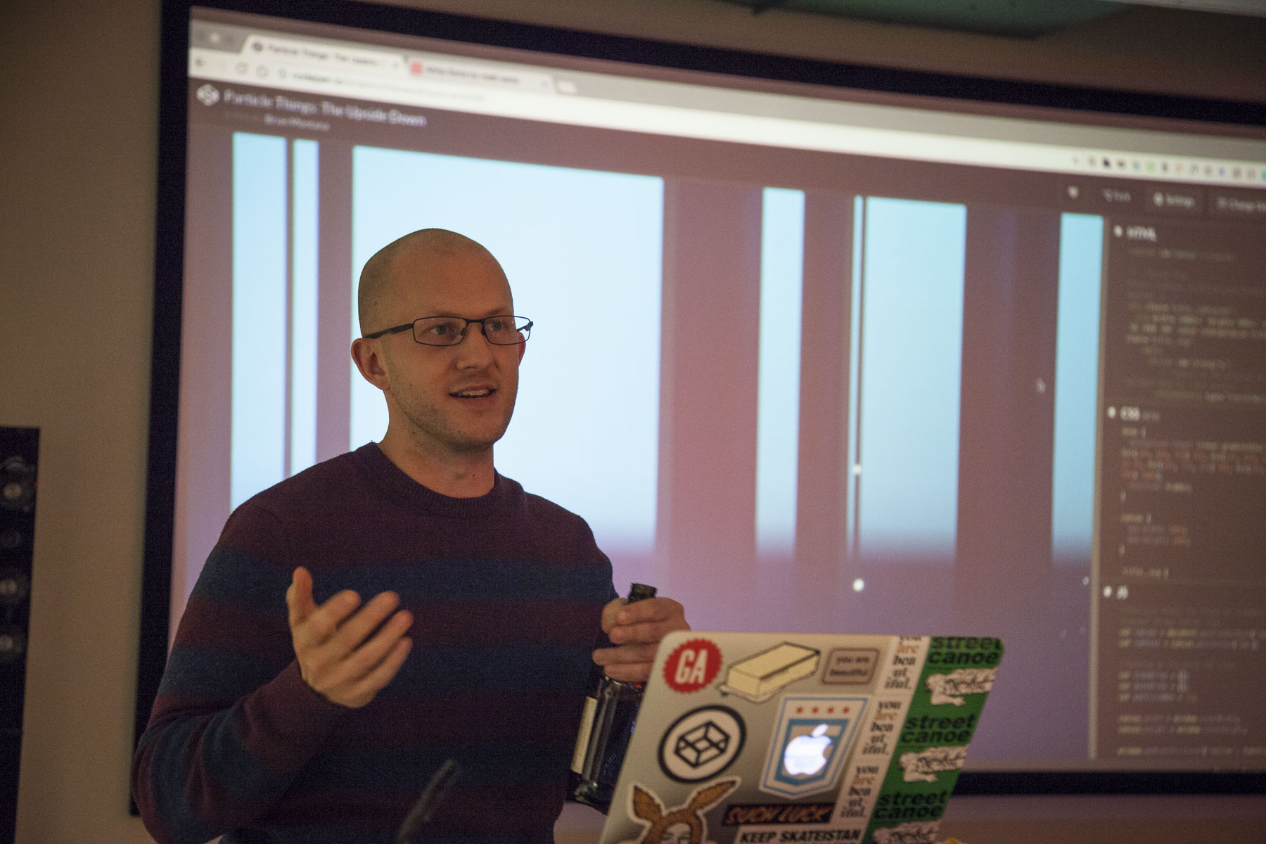 Brian Montana presenting at CodePen Chicago