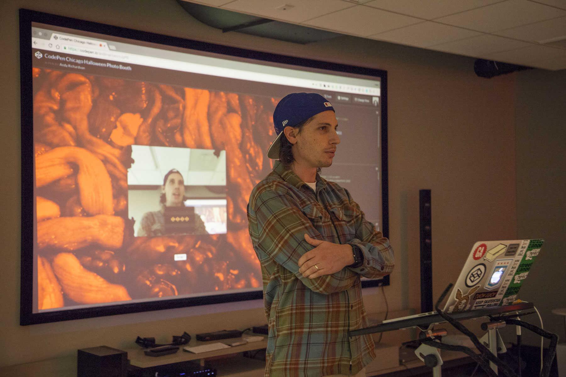 Andy Richardson presenting at CodePen Chicago