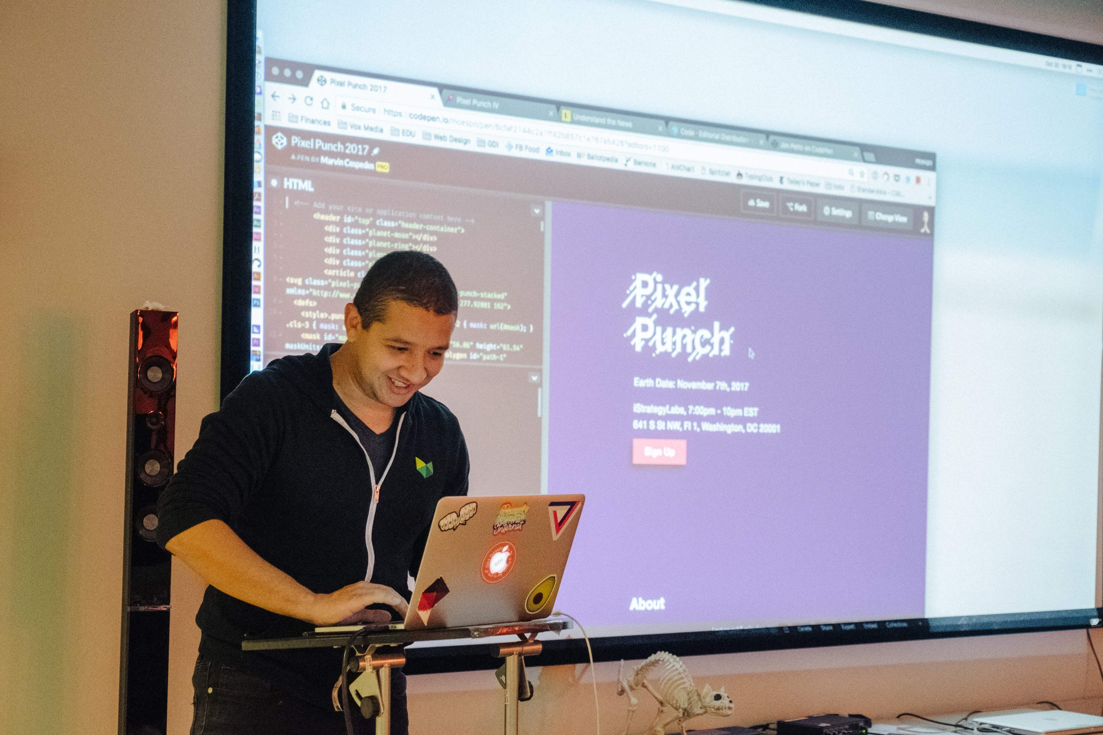 Marvin Cespedes presents Pixel Punch and happily representing Vox