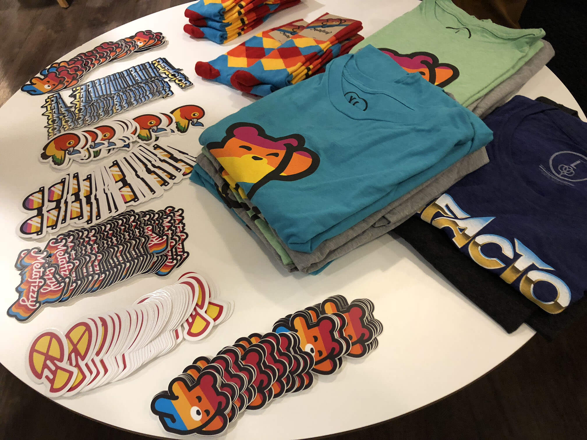 Stickers and shirts with much swag!
