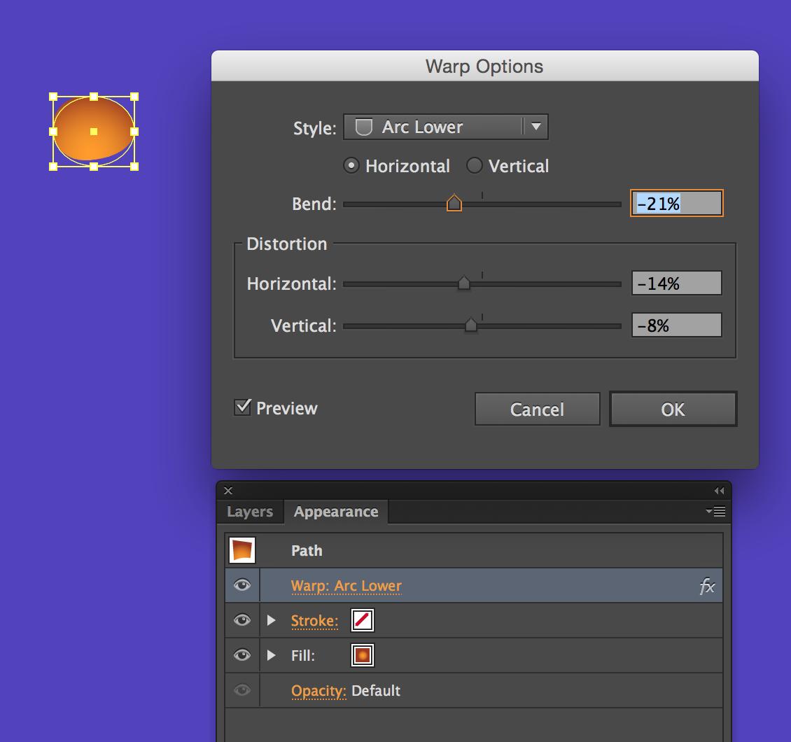 Adobe Illustrator's Warp Options