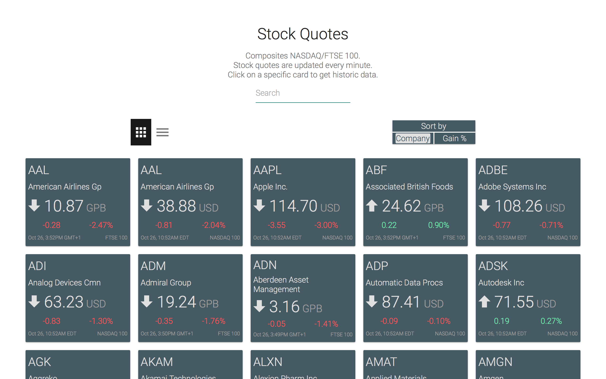 Stock quotes by maciej caputa on codepen there are two types of views to be chosen form an app like one biocorpaavc Image collections