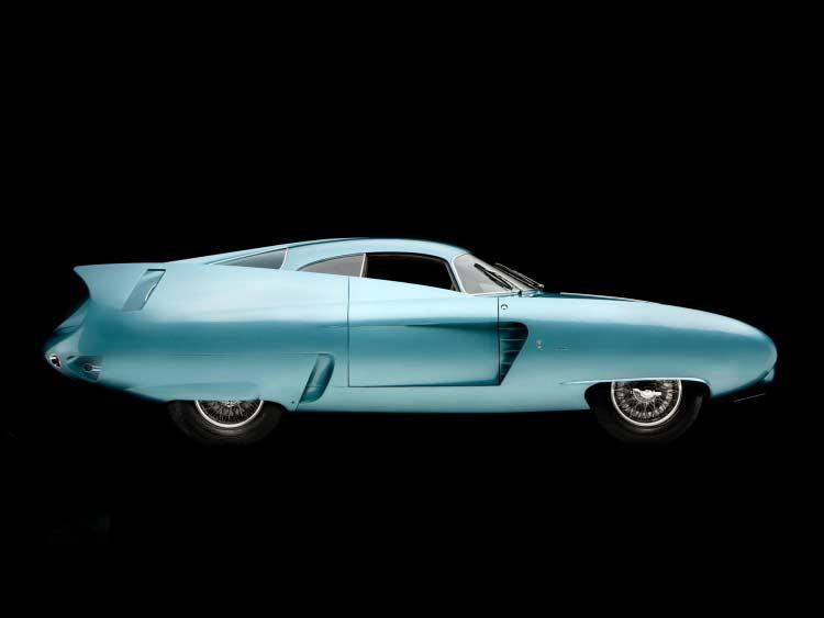 Photograph of blue Alfa Romeo BAT-7