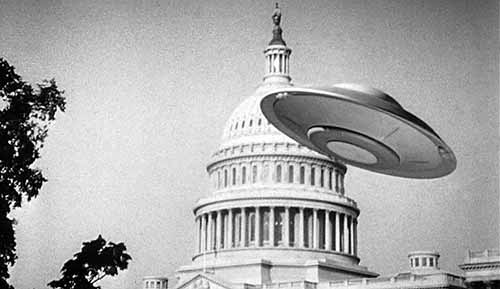 Photograph of a flying saucer over the US Capitol building