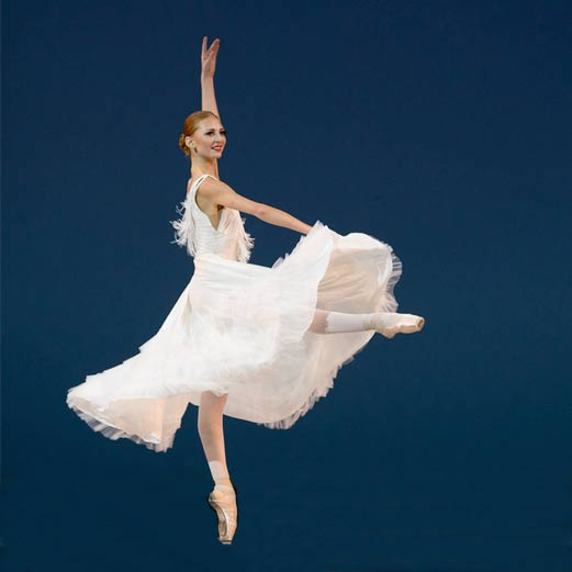 A ballerina photographed in