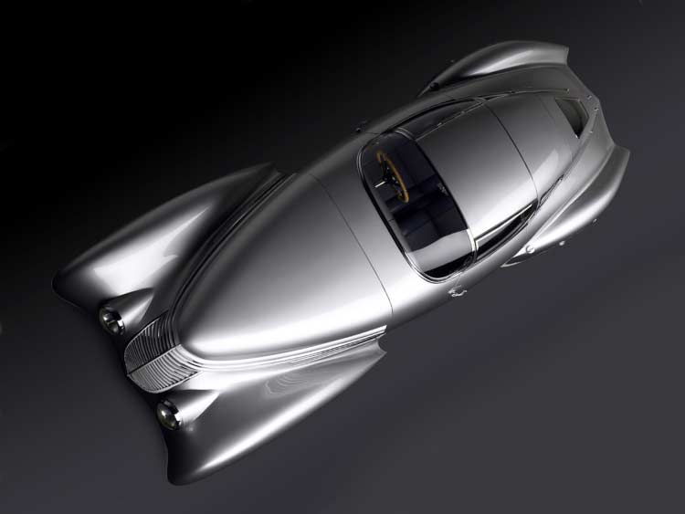 Photograoh of Hispano-Suiza Dubonnet Xenia from above