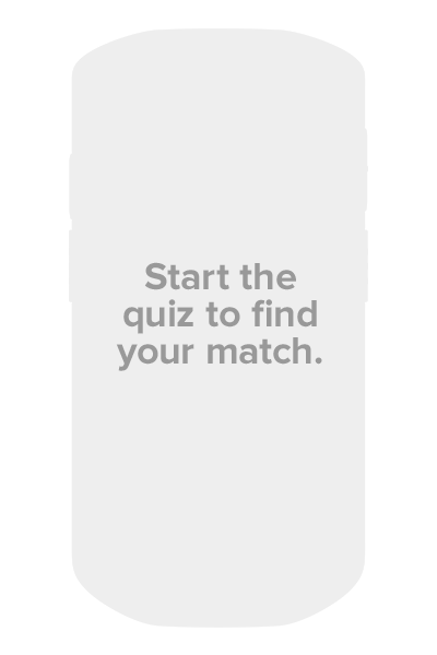 Start the quiz to find your match