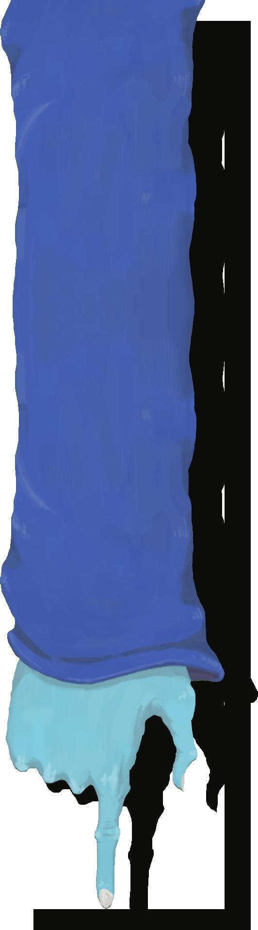 Arm with blue sleeve