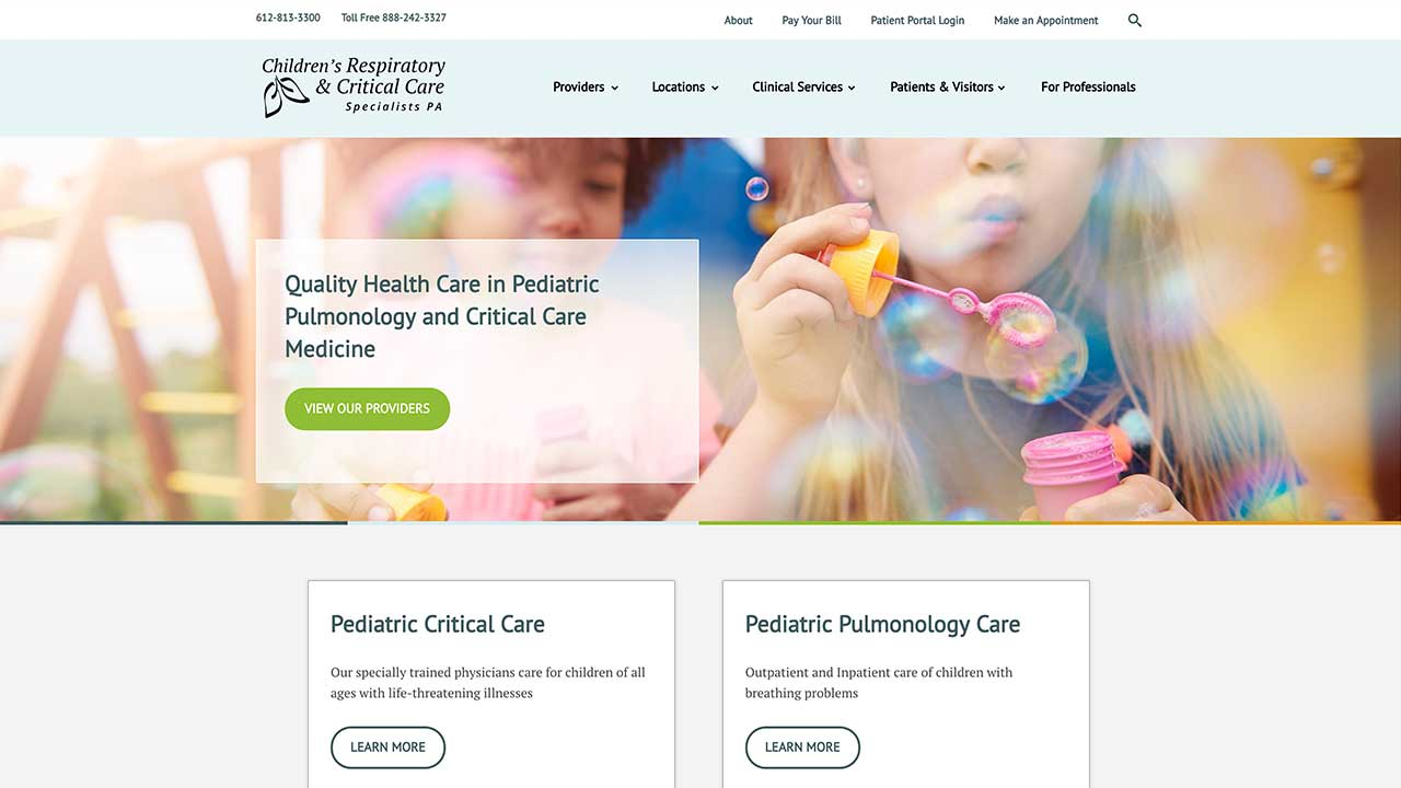 Children's Respiratory Homepage