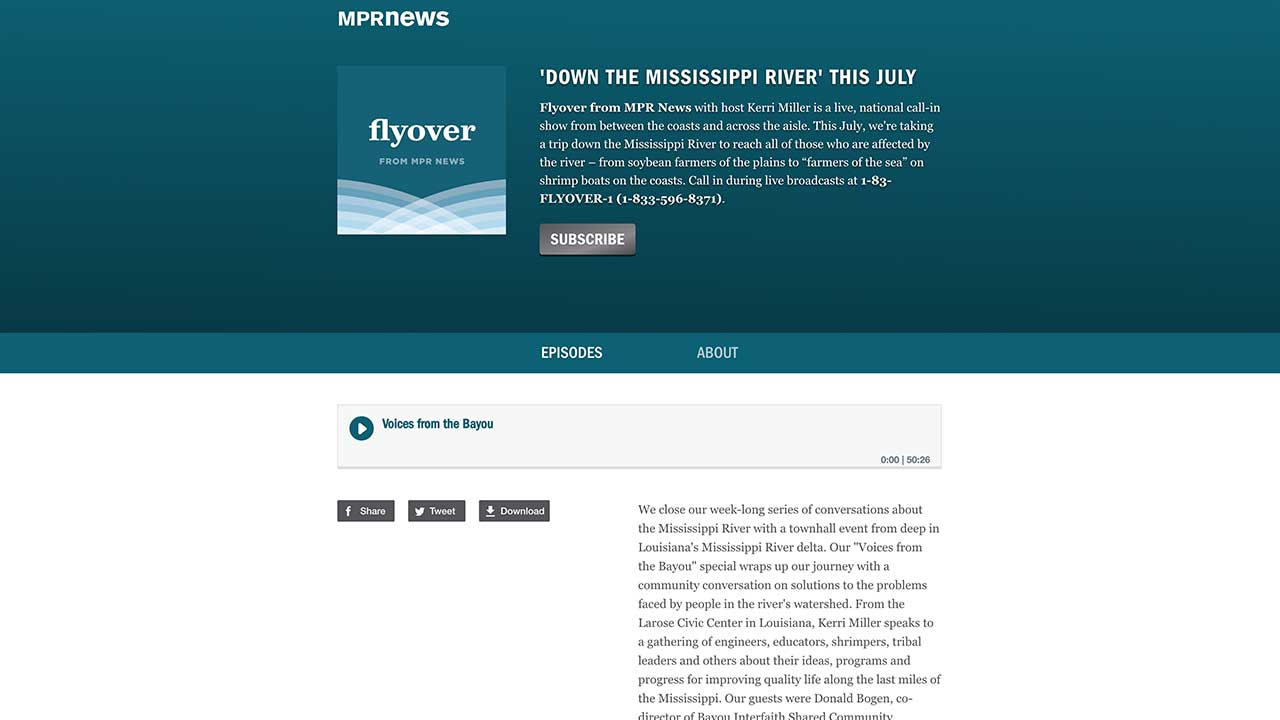 MPR News Flyover podcast