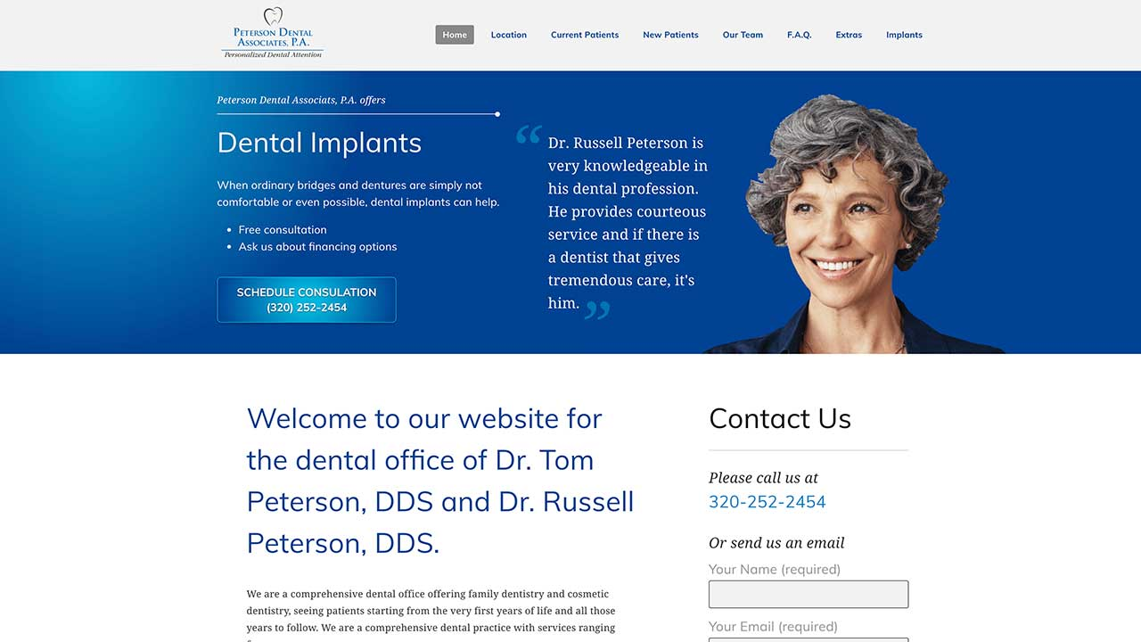 Peterson Dental Homepage