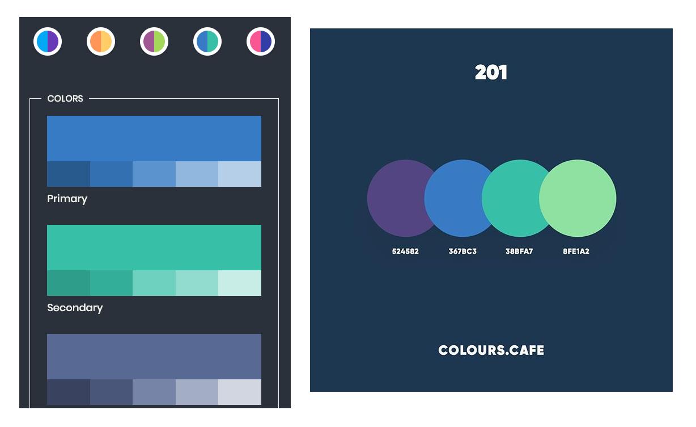 Comparison of two color palettes