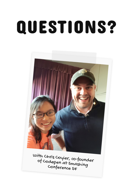 Photo of author and Chris Coyier