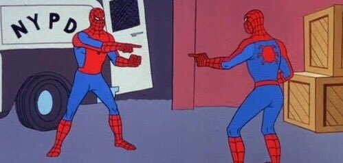 Spiderman meeting Spiderman meeting