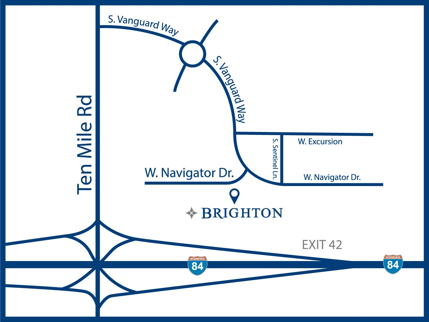 Map to Brighton Headquarters