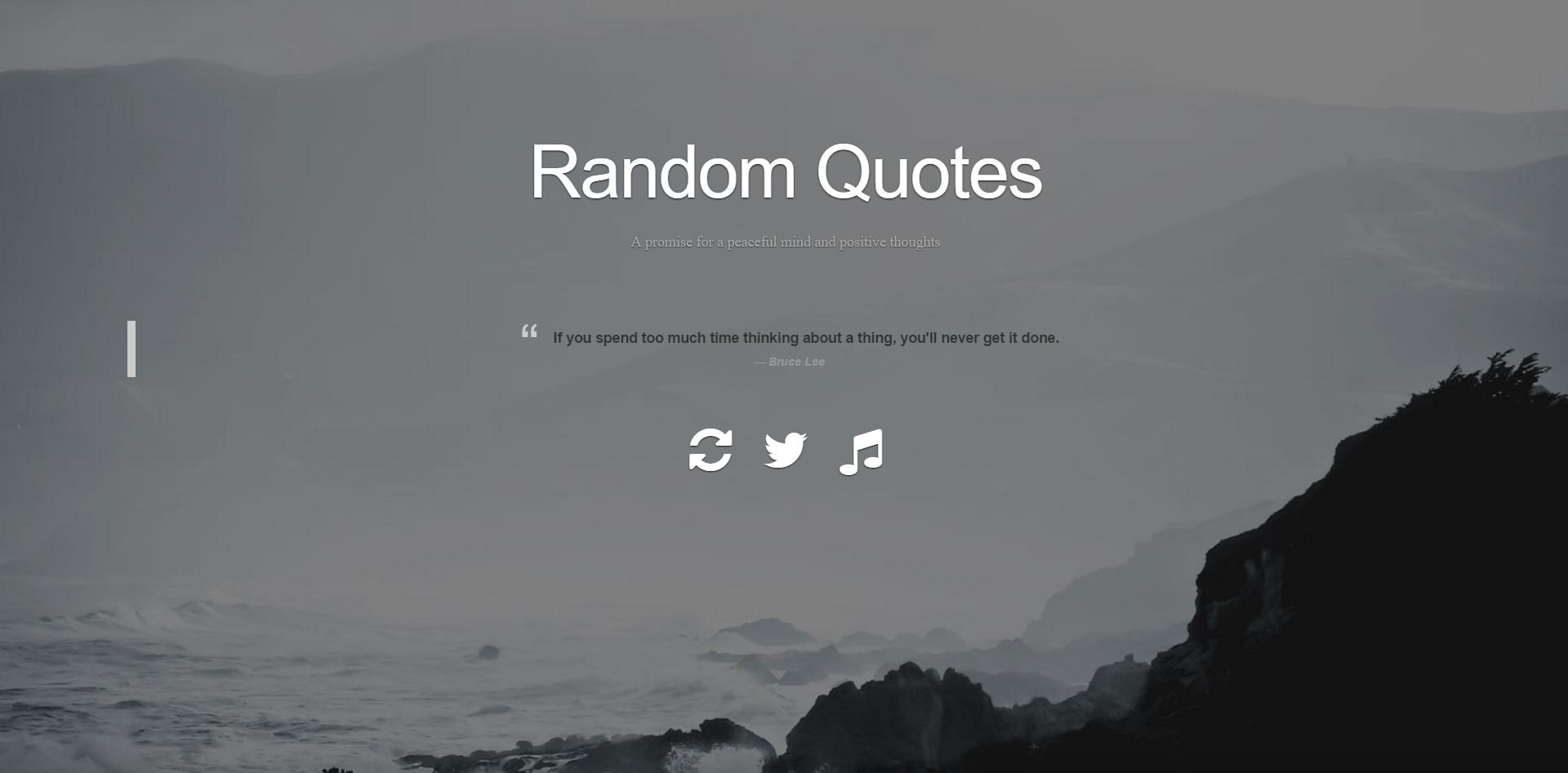 Quotes Generator Portfolio Page