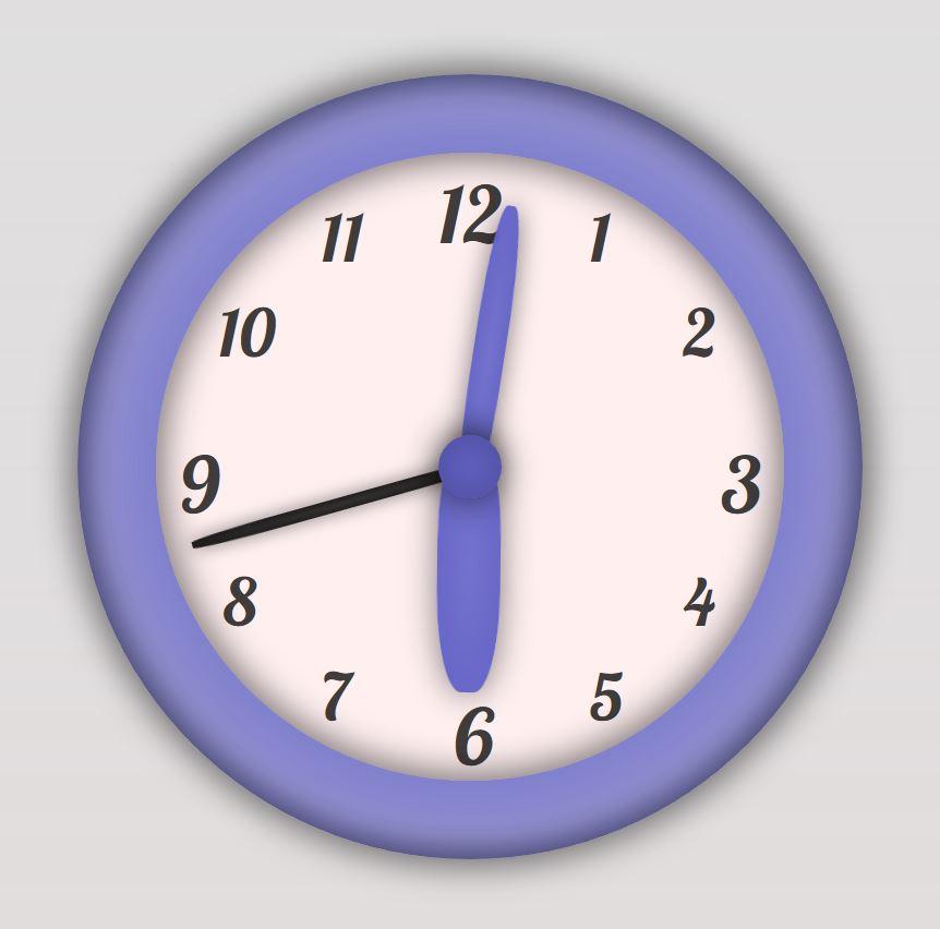 Clock Vector Graphic