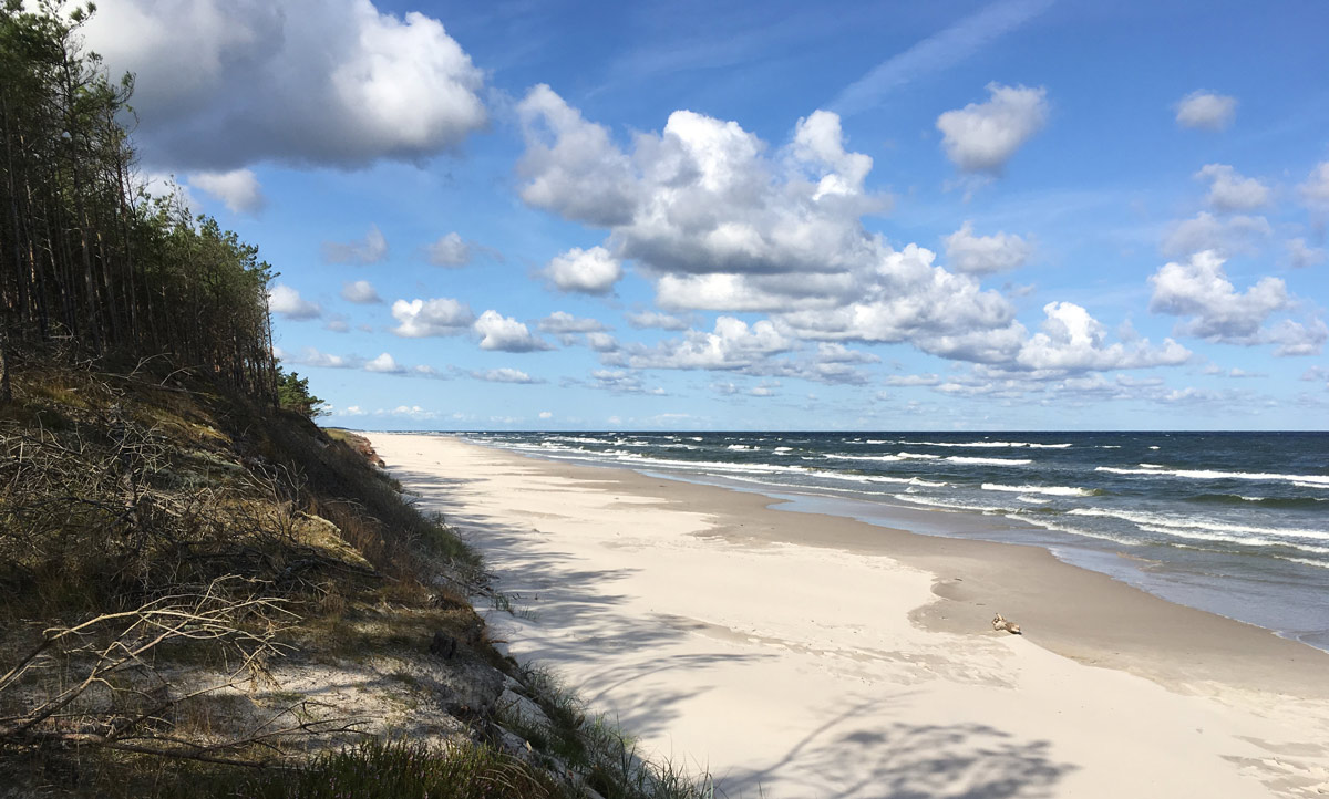 Original baltic seashore