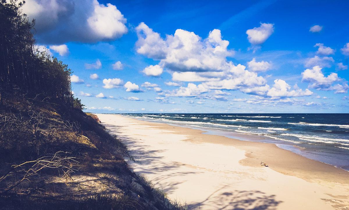 Baltic seashore - processed image Warmsphere preset