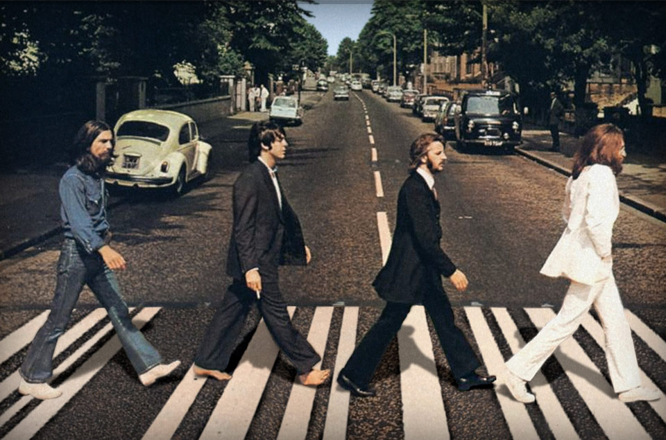 The Beatles on Abbey Road