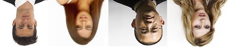 Upside-down heads