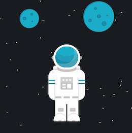 Astronaut CSS Illustration