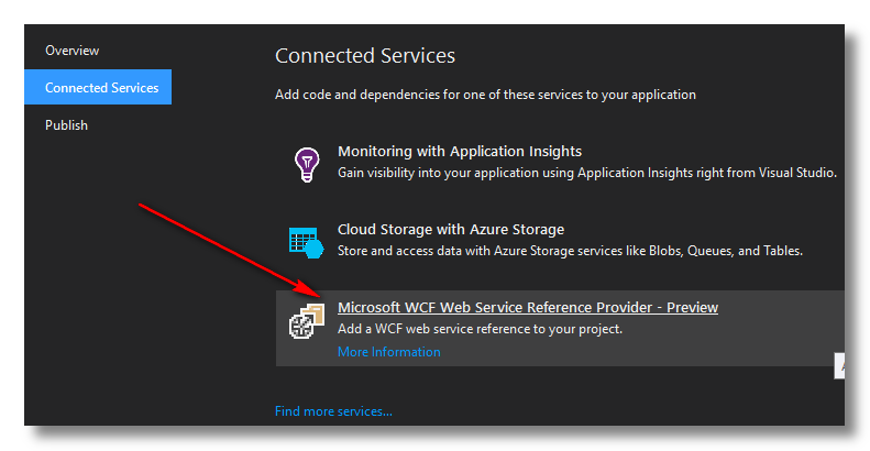 Add WCF Web Service