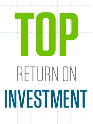 Top return on investment.