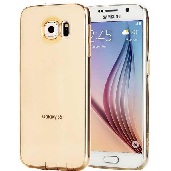 CASE SILICON GALAXY S6 GOLD