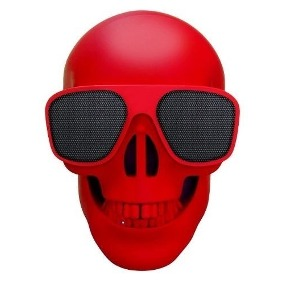 BOCINA BLUETOOTH SELECT SOUND BT SKULL ROJO