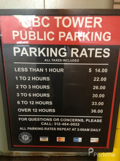 Nbc Tower Parking In Chicago Parkme