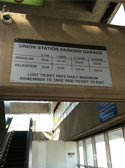 Lot 585 Union Station Parking Garage Parking In