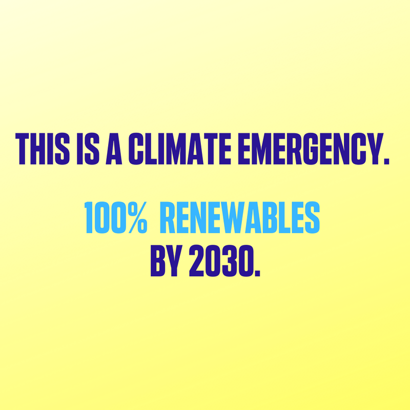 100 percent renewable by 2030