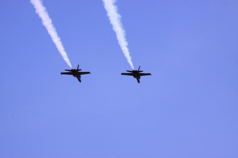 Blue Angels over Lake Washington