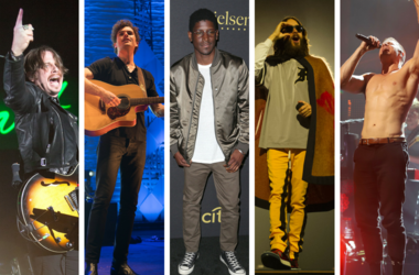 Dan Reynolds of Imagine Dragons, Jared Leto of 30 Seconds To Mars, Vance Joy, Mark Foster of Foster the People, Labrinth.