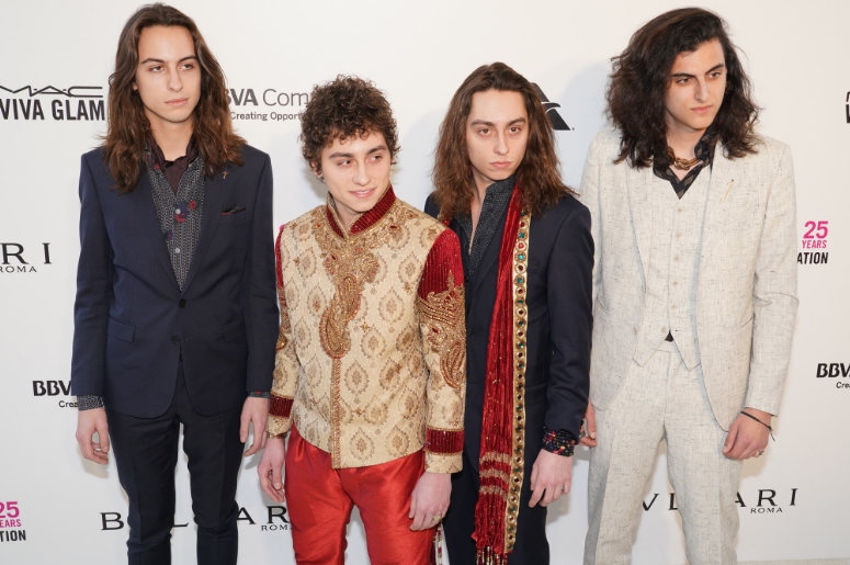 Greta Van Fleet Band on the red carpet at Elton John's 26th Annual AIDS Foundation