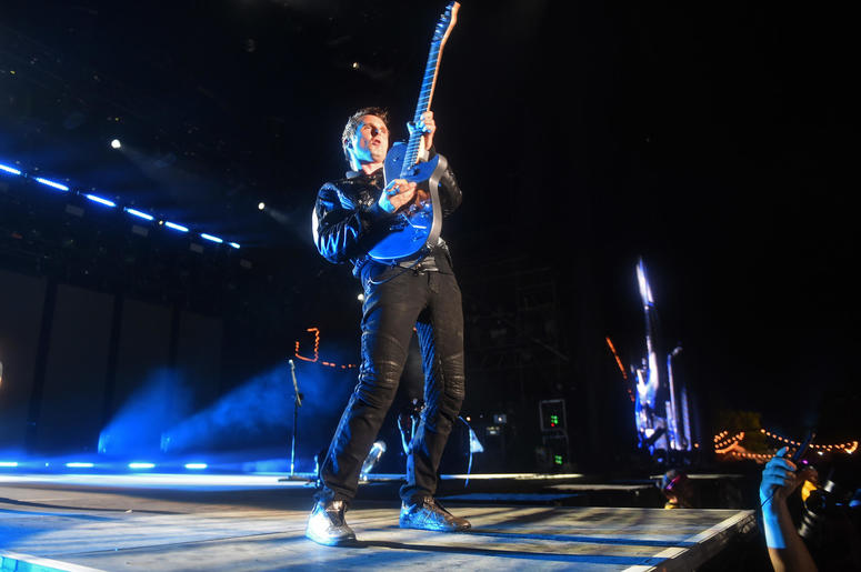 Muse performs at the Bonnaroo Music and Arts Festival.