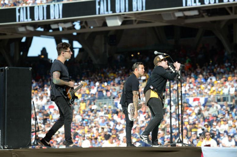Fall Out Boy performs before the All Star Game home run derby at PetCo Park