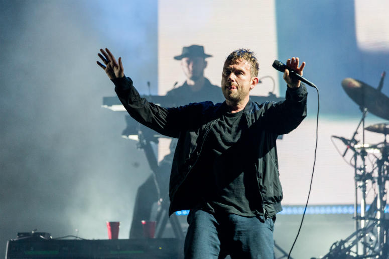 Damon Albarn of Gorillaz during Outside Lands Music Festival at Golden Gate Park on August 11, 2017