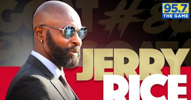 Jerry Rice joins 95.7 The Game as a weekly contributor