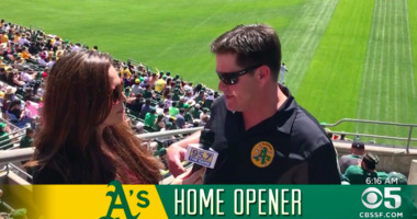 VIDEO: A's get a win and so does the Coliseum's new Treehouse!