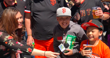 VIDEO: 60th year of Giants baseball officially begins in San Francisco!